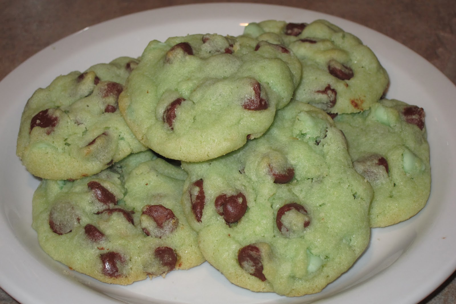 Inspired Whims: Mint Chocolate Chip Cookies