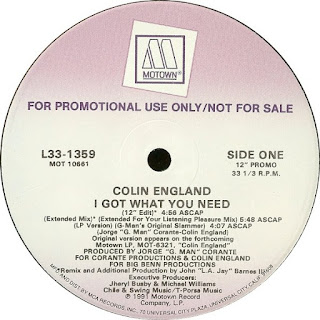 Colin England ‎– I Got What You Need (Promo VLS) (1991)