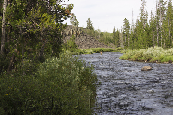 Gardner River and Sheepeater Cliff, Yellowstone National Park
