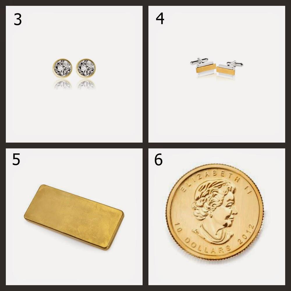 kolczyki, spinki, sztabka, moneta