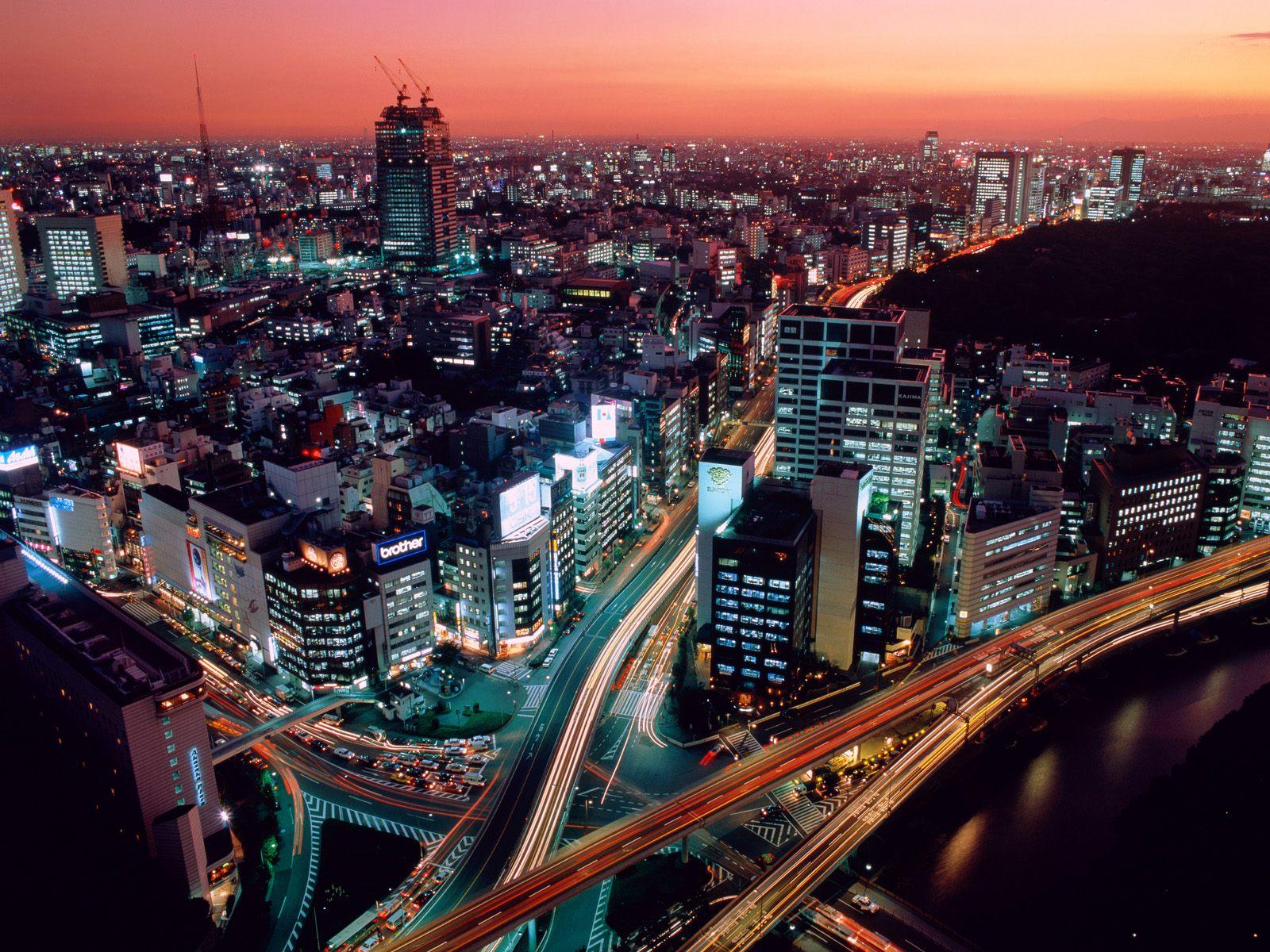 Токио, Япония Dusk_Tokyo_Japan