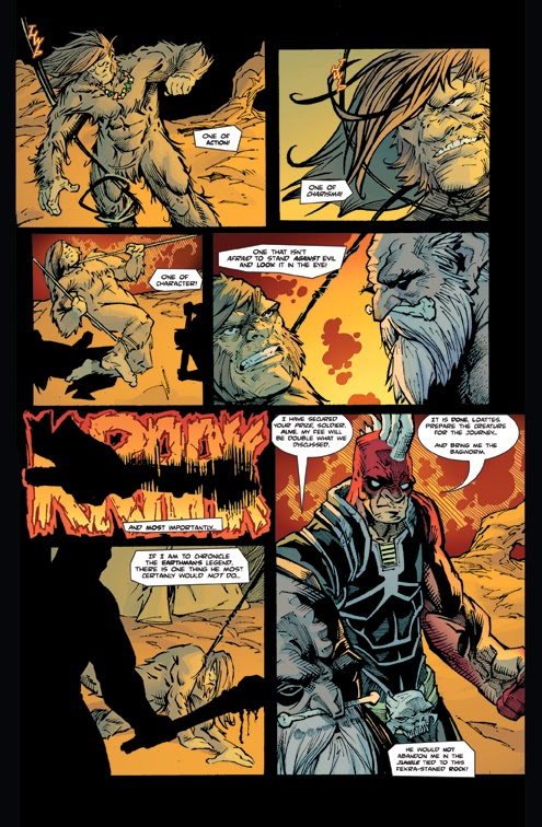 bigfoot sword of the earthman issue five issue 5 preview page three bigfoot comic book bigfoot graphic novel barbarian comic