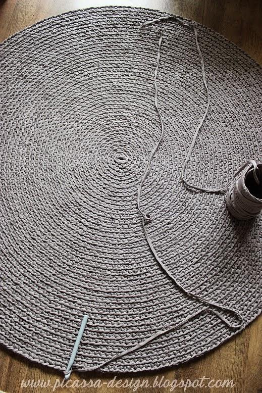 Szaro i Buro, czyli szydełkowy dywan!