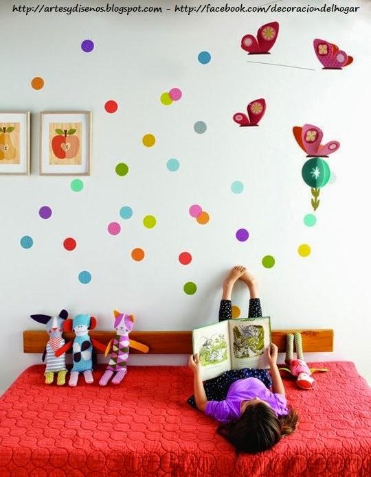 Dormitorios infantiles con circulos en las paredes - Dormitorios infantiles de diseno ...