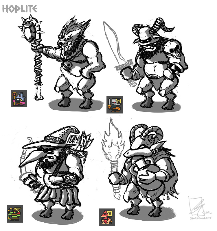 Hoplite - demon sprites