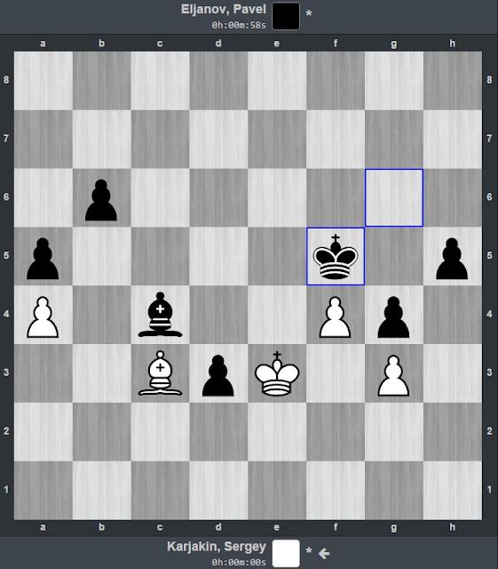 Posición en la que Karjakin reclama las tablas que le valen el paso a la final