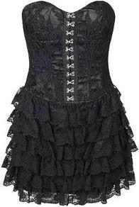 modelo de vestido preto corselet - dicas e fotos