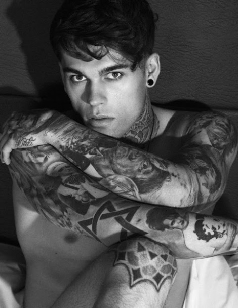 Model Stephen James Portrait with tattoos