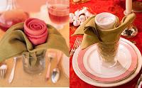 doblado de servilletas con hacer una rosa