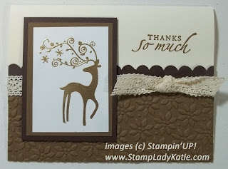 Card made with Stampin'UP! set called Dasher. Made by StampLadyKatie