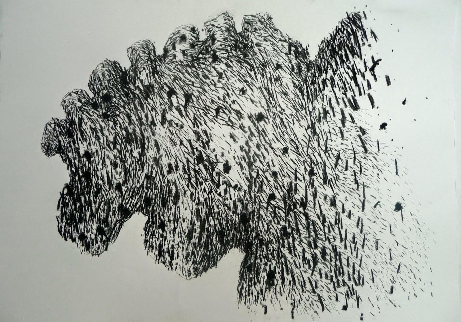 Fusain / papier 50x65 2014