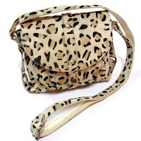 natural leather leopard pring handbag
