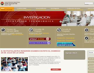 Ingresantes examen UNSA 2015-I Primera FASE Universidad San Agustin 20 de Julio