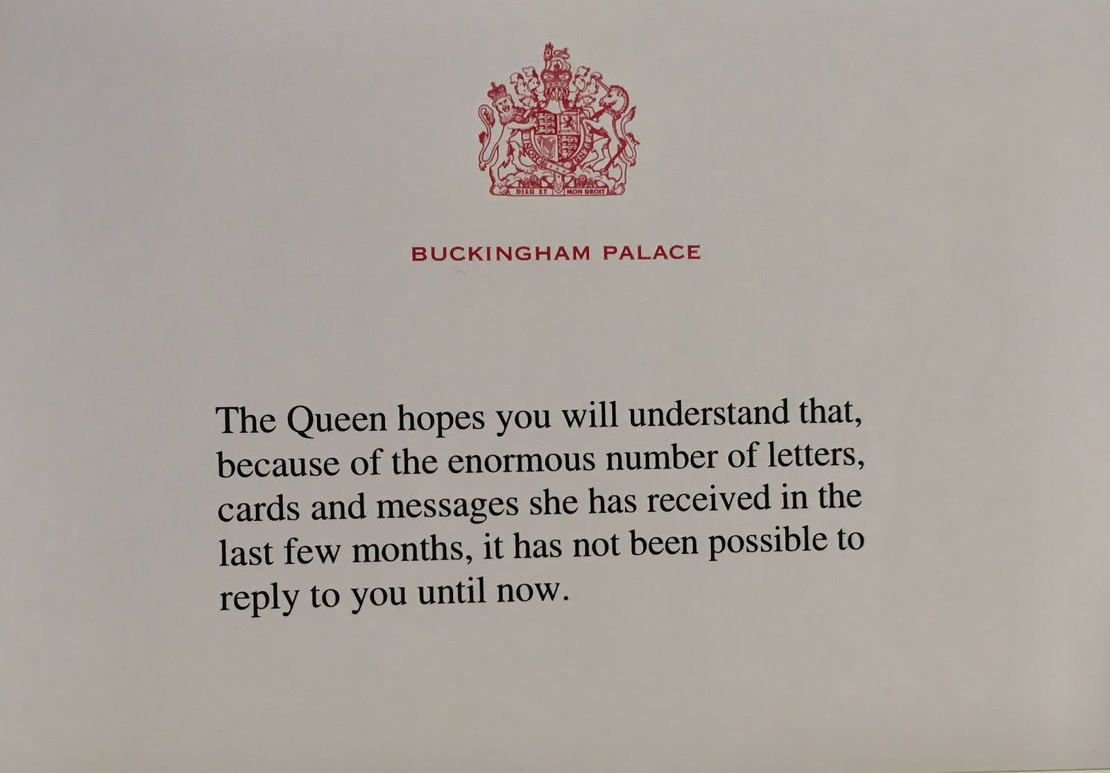 Gerts royals queen elizabeths 90th birthday reply over the years many of you have come to me worried about not having received a reply yet my response to you has usually been you just need to be patient bookmarktalkfo Choice Image