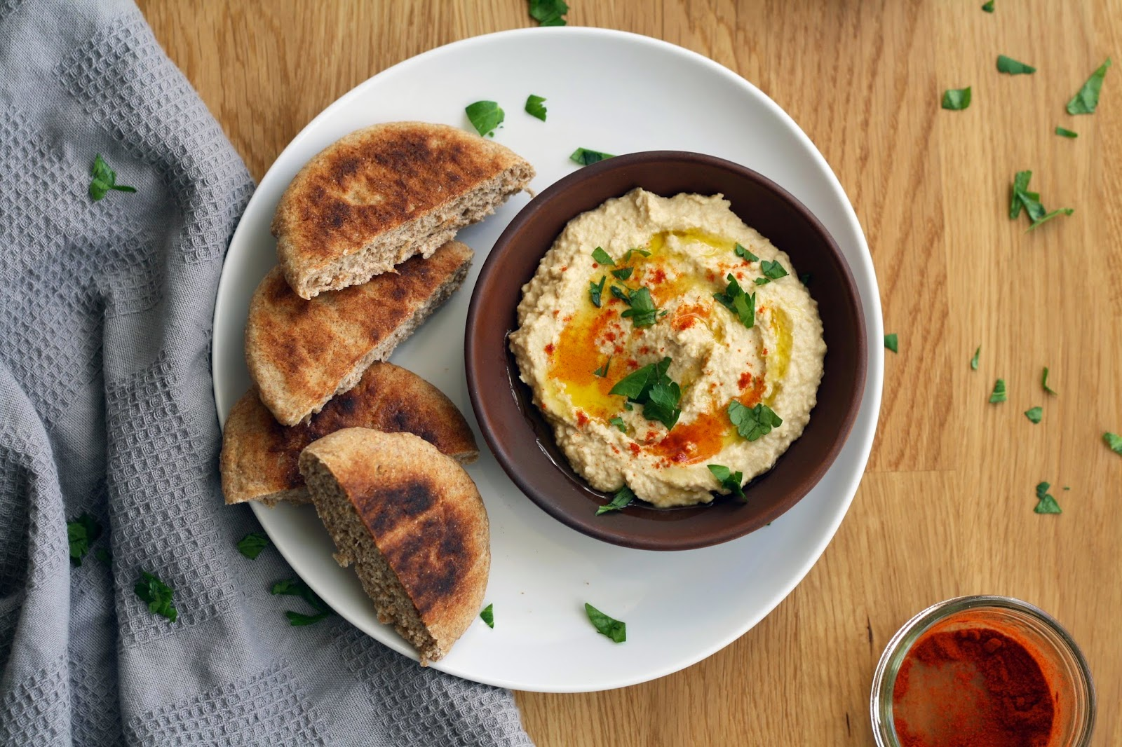 Simple (+ Quick) Hummus and Pita | Sevengrams