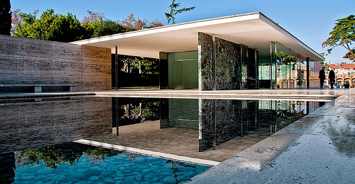 picture of Miss Van Der Rohe's Barcelona pavilion