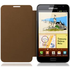 Buy Samsung Galaxy Note Flip Cover Brown Color