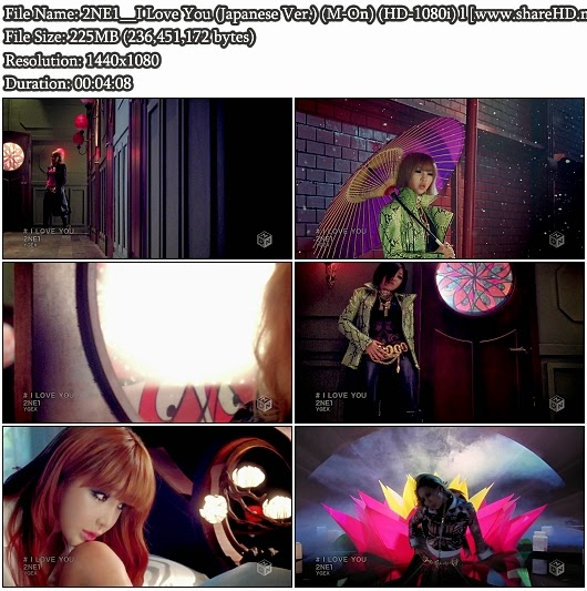 Download PV 2NE1 - I Love You (Japanese Version) (M-On Full HD-1080i)