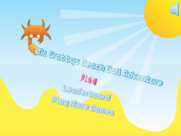 Unblocked Game : Mr Crabbys Beach Ball Adventure