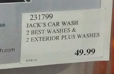 Deal for 4 assorted car washes to Jack's Car Wash at Costco