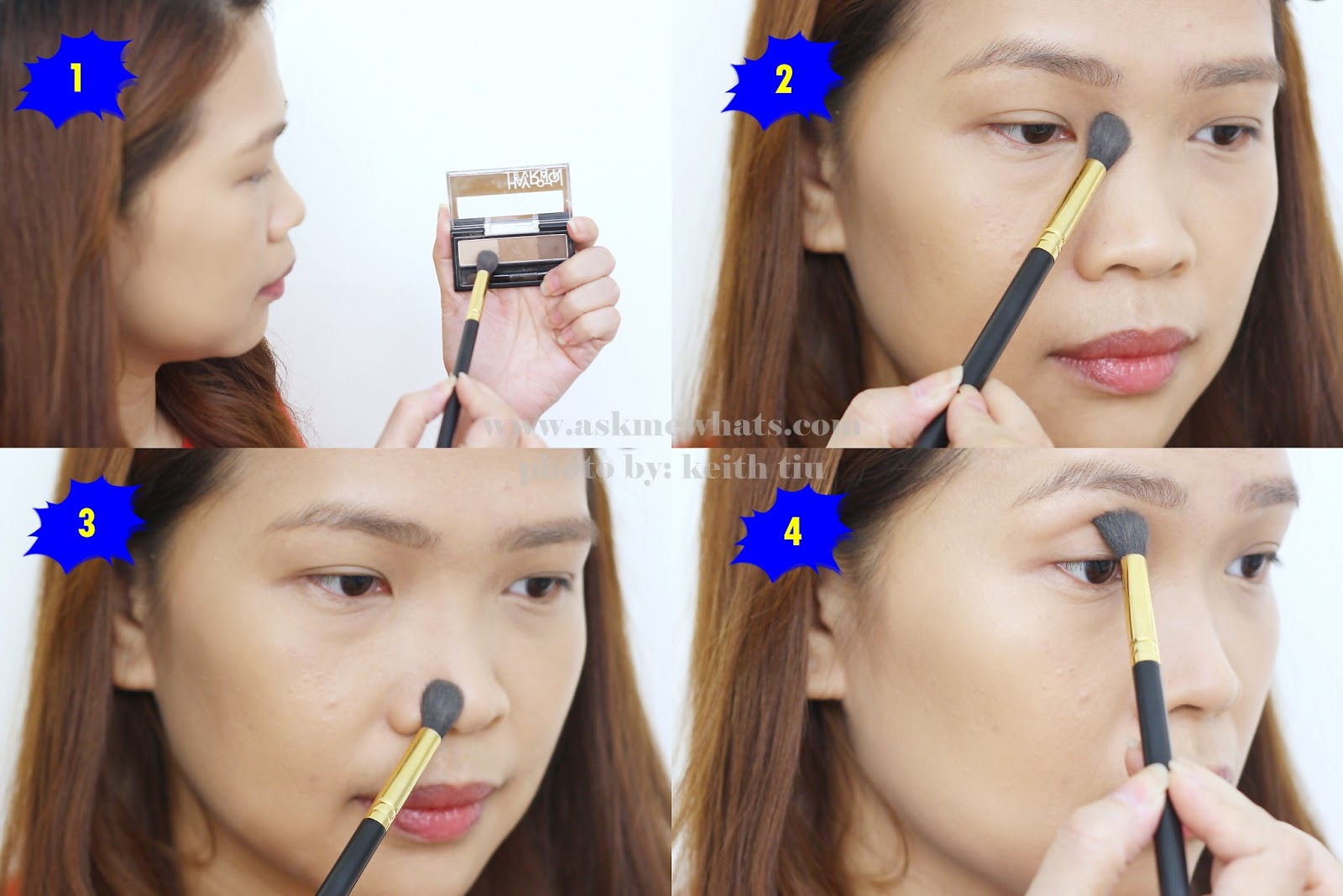 how to use Heavy Rotation Powder Eyebrow and Nose Powder (02 Natural Brown) Review