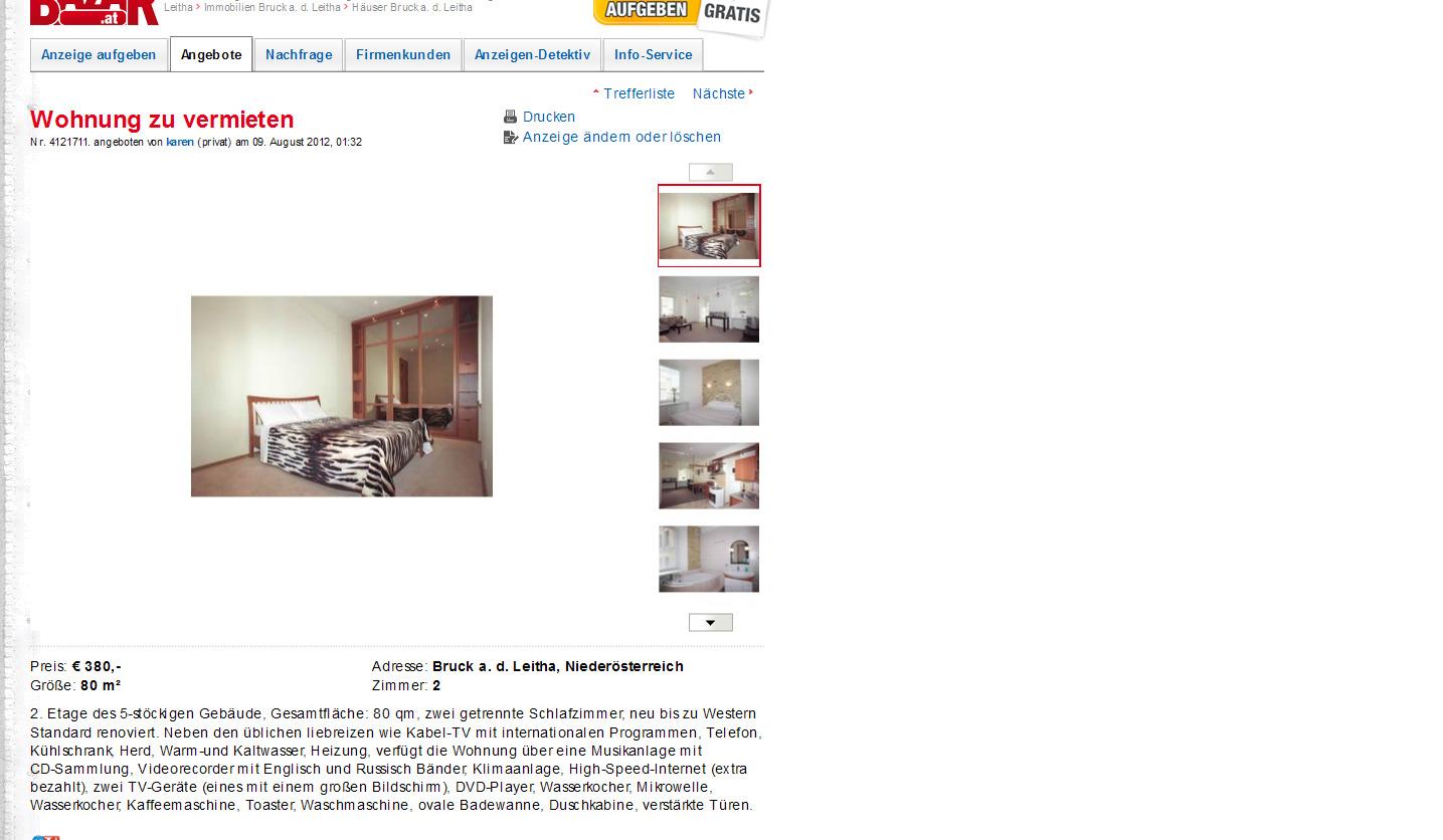 alias karen wohnung zu vermieten oberpullendorf bruck an. Black Bedroom Furniture Sets. Home Design Ideas