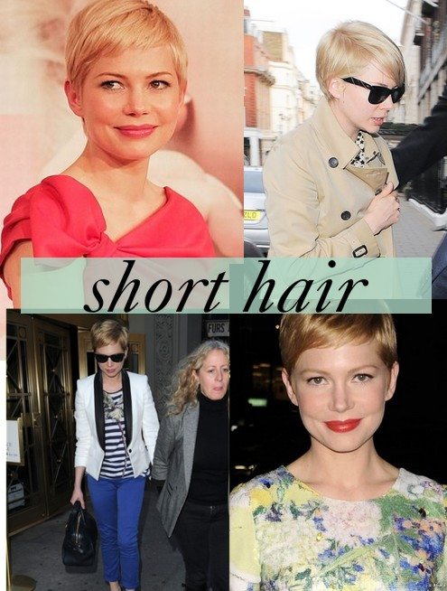 michelle williams pelo corto