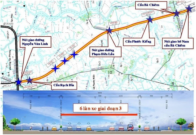 Đề xuất đầu tư hơn 8500 tỷ đồng làm trục đường Bắc Nam 6 làn xe