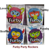 Furby Party Rockers - Twitby - Scoffby - Loveby - Fussby