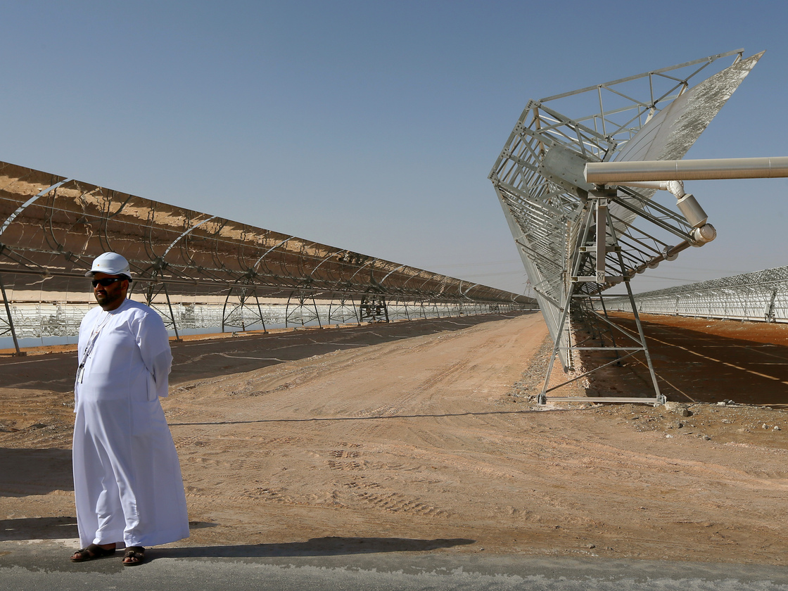 World's largest solar power plant and Abu Dhabi