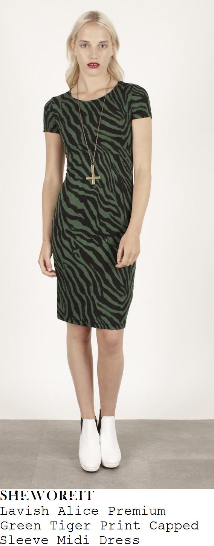ferne-mccann-green-and-black-tiger-print-midi-dress