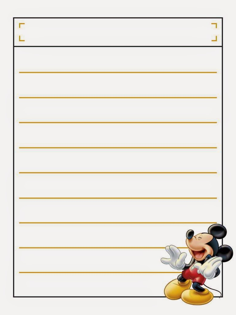 Mickey Free Printable Notebook. | Oh My Fiesta! in english | 768 x 1024 jpeg 46kB