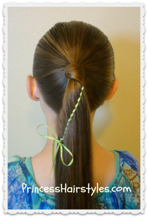Waterfall Twist Braid With Ribbon