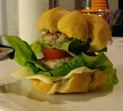 gluten free pork burger