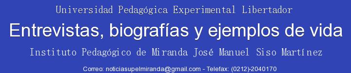 Entrevistas, biografías y ejemplo de vida...