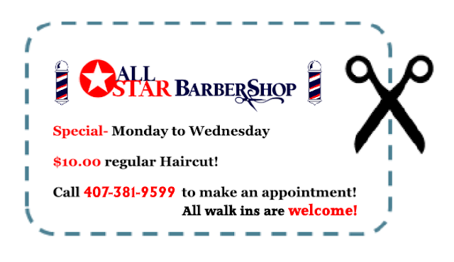 All Star Barber Shop- Specials