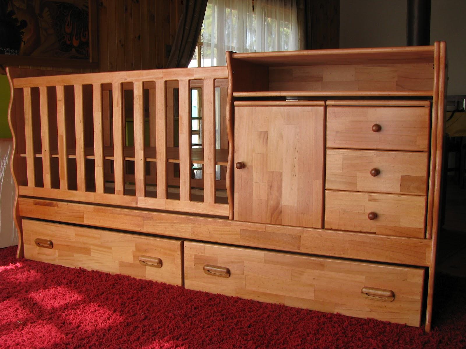 Las cunas de madera para la habitaci n del bebe - Cunas de madera para bebes ...
