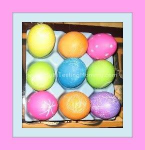 Decorated Easter Eggs via @MultiTestingMom