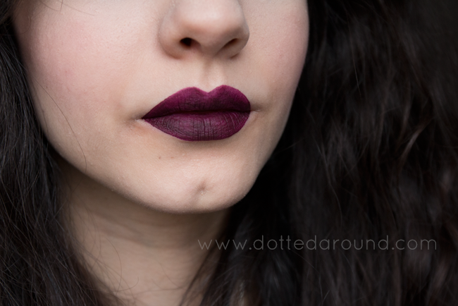 Mac high drama liquid lipstick swatch