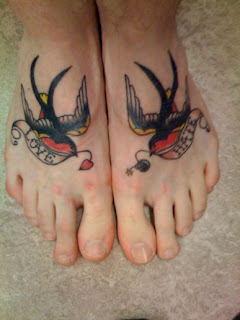 Birds tattoo design for Girls feet