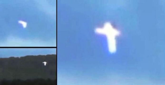 Περίεργη οντότητα μετατρέπεται σε σταυρό φωτός πάνω από την Κριμαία [Βίντεο]