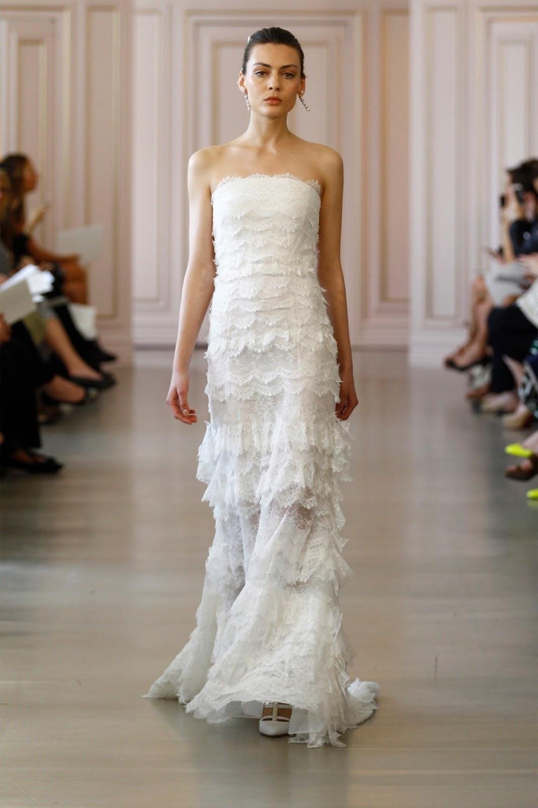Bridal wear new bridal dresses for spring brides 2016 by for De la renta wedding dresses