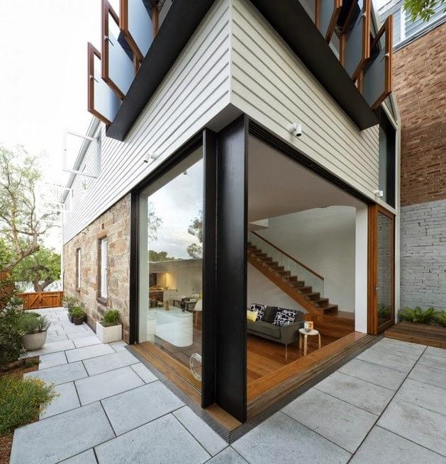 rumah sederhana terbuka dua lantai desain rumah modern