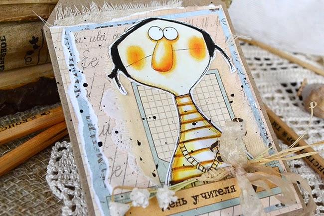 Card, открытка, день учителя, школа, карандаш