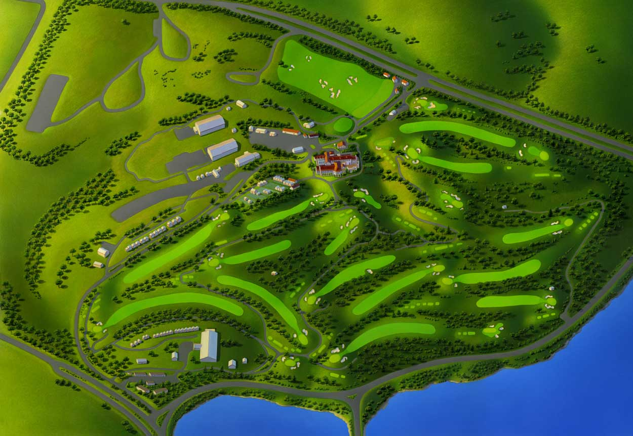 Maps Illustration Soup - Us open course map