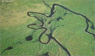 Ποτάμι στο fisheating creek στη φλόριντα