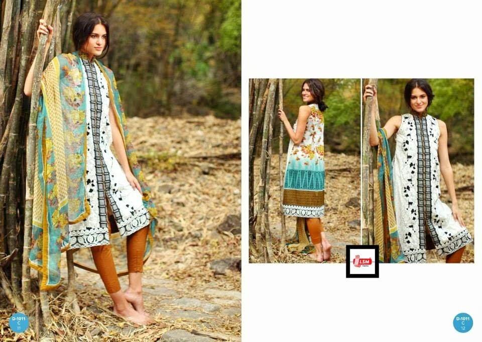 Open Shirt With Chiffon Printed Lawn Designs