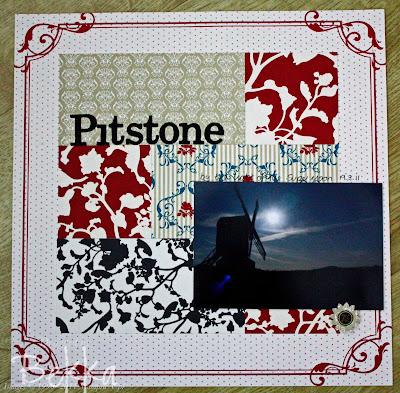 Pitstone Windmill at Night Scrapbook Page