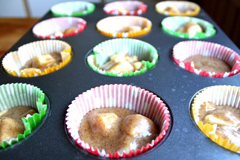Oppskrift Eplemuffins Kanelmuffins Høstmuffins Uten Egg Melkefri Eggfri Veganske Enkle Muffins