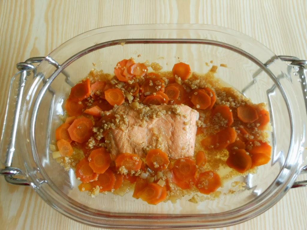 les recett 224 jo darne de saumon carottes et quinoa cuisson omnicuiseur v3000